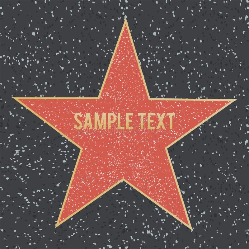 Περίπατος του αστεριού φήμης στο πάτωμα γρανίτη επίσης corel σύρετε το διάνυσμα απεικόνισης στοκ εικόνες