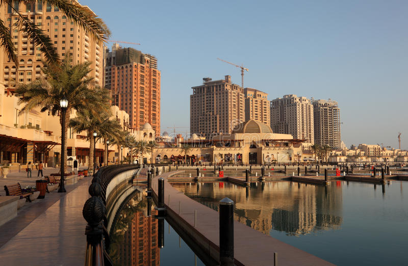 περίπατος του Πόρτο doha της Αραβίας στοκ φωτογραφία με δικαίωμα ελεύθερης χρήσης