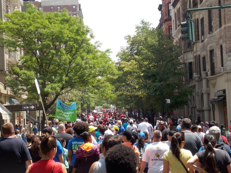 Περίπατος φιλανθρωπίας στην πόλη της Νέας Υόρκης στοκ φωτογραφία με δικαίωμα ελεύθερης χρήσης