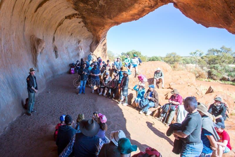 Περίπατος Mala σε Uluru στοκ εικόνα