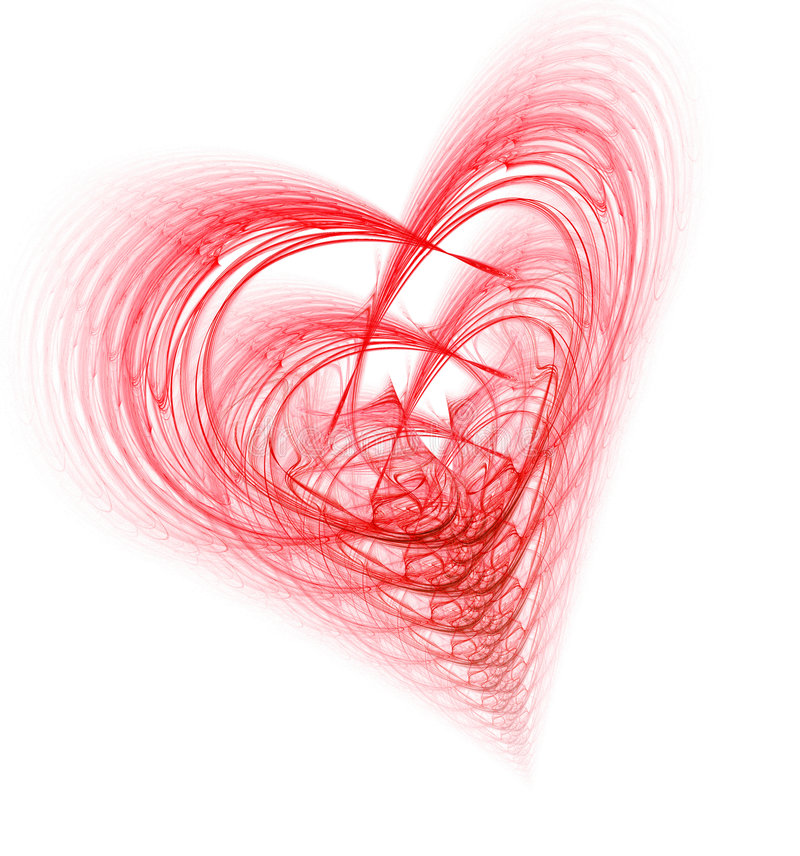 περίπλοκη καρδιά διανυσματική απεικόνιση