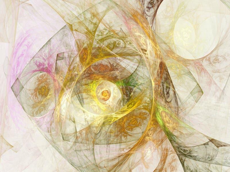 Περίπλοκος χρυσός fractal Ιστός απεικόνιση αποθεμάτων