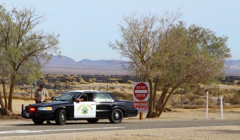 Περίπολος εθνικών οδών Καλιφόρνιας στοκ εικόνες με δικαίωμα ελεύθερης χρήσης