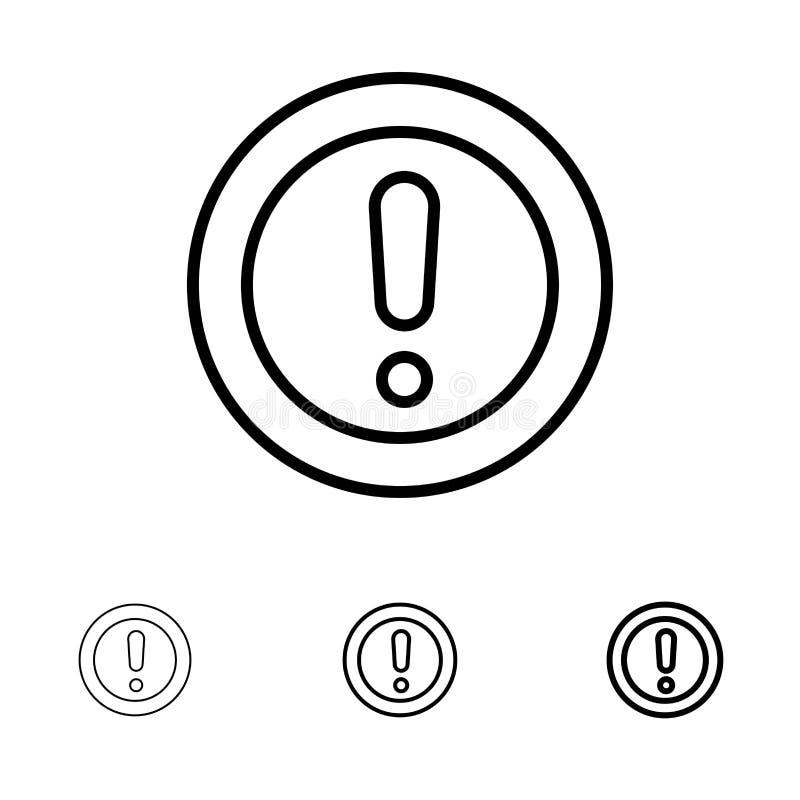 Περίπου, πληροφορίες, σημείωση, ερώτηση, τολμηρό και λεπτό μαύρο σύνολο εικονιδίων γραμμών υποστήριξης ελεύθερη απεικόνιση δικαιώματος