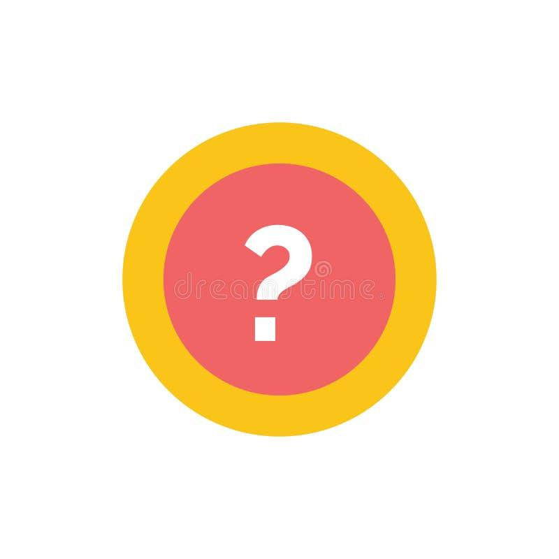 Περίπου, ρωτήστε, πληροφορίες, ερώτηση, υποστηρίζει το επίπεδο εικονίδιο χρώματος Διανυσματικό πρότυπο εμβλημάτων εικονιδίων απεικόνιση αποθεμάτων