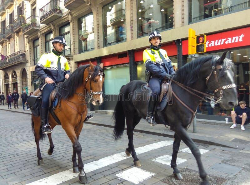 Περίπολος αλόγων αστυνομίας στοκ εικόνες