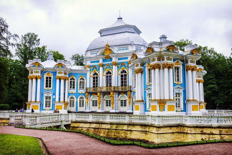 Περίπτερο ερημητηρίων σε Tsarskoye Selo, Αγία Πετρούπολη, Ρωσία στοκ φωτογραφίες