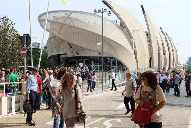 Περίπτερο Μιλάνο, Μιλάνο EXPO 2015 του Μεξικού στοκ εικόνες με δικαίωμα ελεύθερης χρήσης