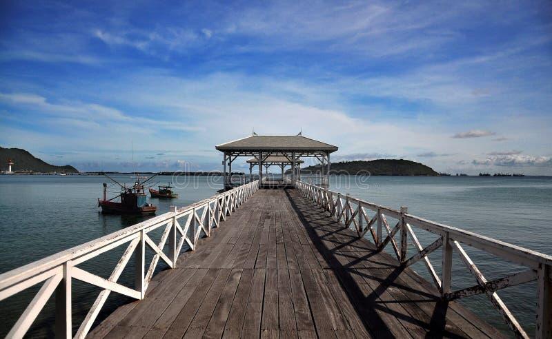Περίπτερο προκυμαιών, νησί Si Chang - Ταϊλάνδη στοκ εικόνα με δικαίωμα ελεύθερης χρήσης