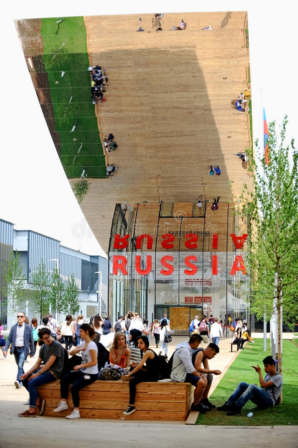 Περίπτερο της Ρωσίας σε EXPO Μιλάνο 2015 στοκ φωτογραφία με δικαίωμα ελεύθερης χρήσης