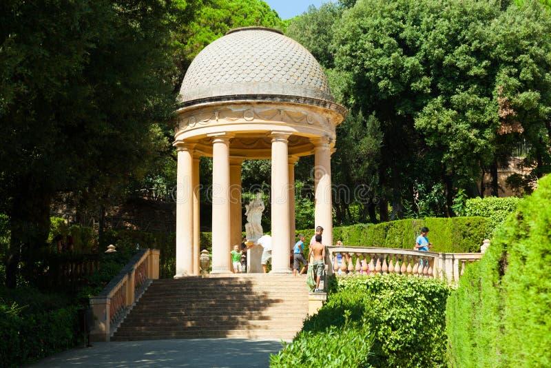 Περίπτερο της Danae Parc del Laberint de Horta στη Βαρκελώνη στοκ εικόνα με δικαίωμα ελεύθερης χρήσης