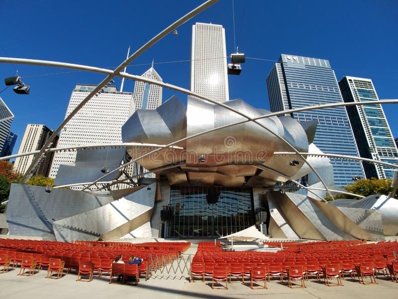 Περίπτερο του Jay Pritzker, Σικάγο στοκ εικόνες