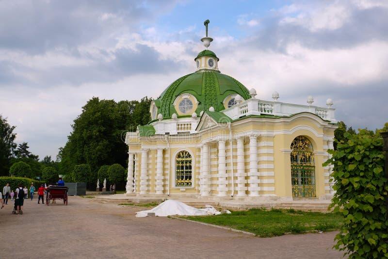 """Περίπτερο """"Grotto """"στο πάρκο Kuskovo στη Μόσχα στοκ εικόνα με δικαίωμα ελεύθερης χρήσης"""