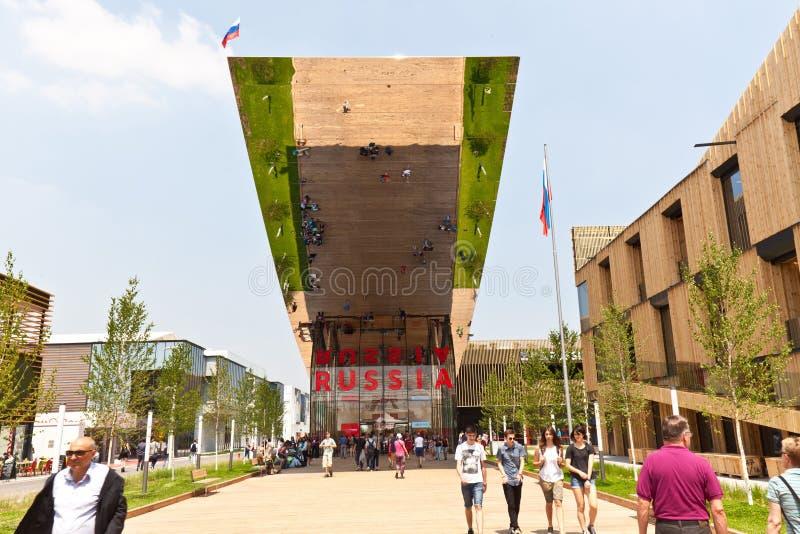 Περίπτερο EXPO Ρωσία στοκ εικόνες