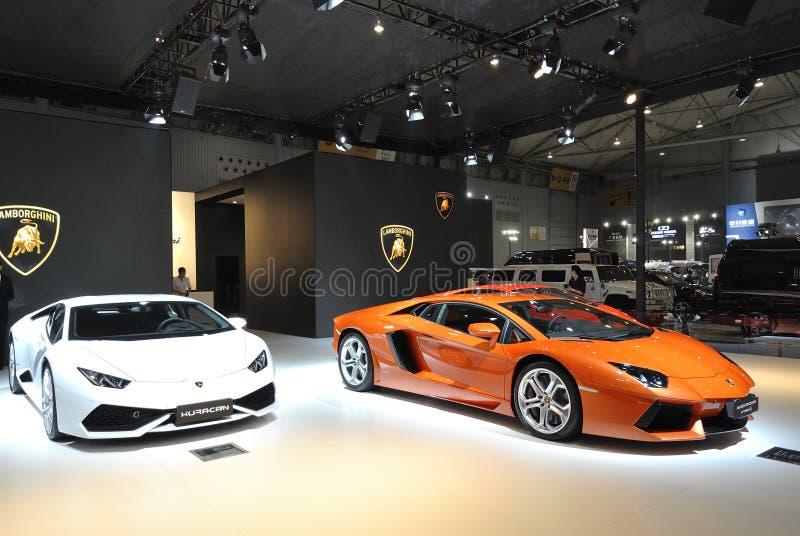 Περίπτερο Lamborghini στοκ φωτογραφία με δικαίωμα ελεύθερης χρήσης