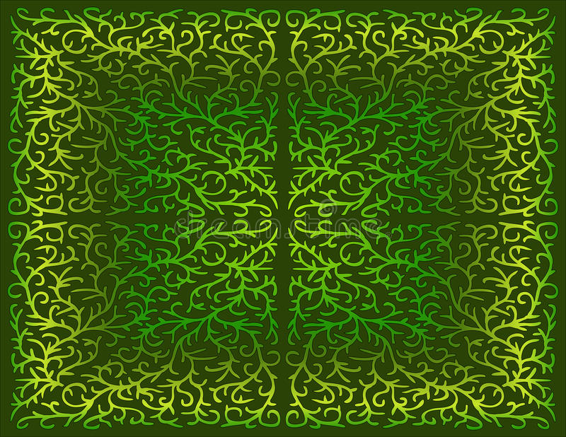 Filigree σχέδιο στις σκιές πράσινου στοκ φωτογραφίες