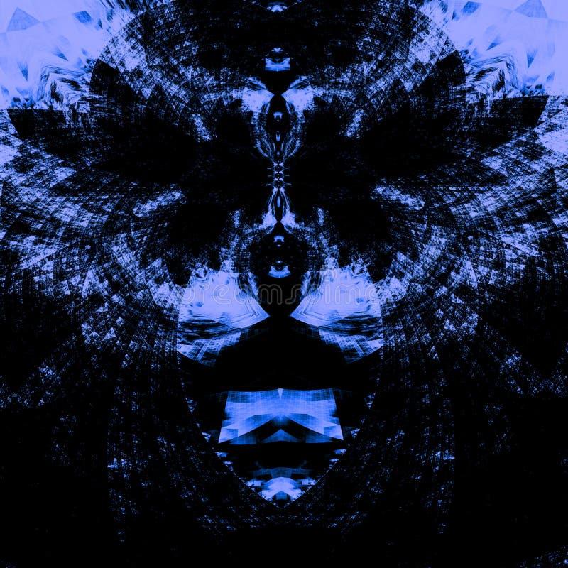 Περίπλοκο psychedelic μπλε υπόβαθρο η ανασκόπηση χτυπά η γραφική υψηλή διάλυση s ονόματος εικόνας απεικόνισης σχεδιαστών κατάλληλ ελεύθερη απεικόνιση δικαιώματος