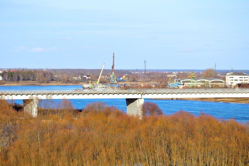 Περίχωρα Veliky Novgorod, Ρωσία, περιοχή νερού του ποταμού Volkhov στοκ φωτογραφία με δικαίωμα ελεύθερης χρήσης