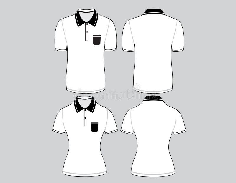 Περίληψη ανδρών και γυναικών πουκάμισων πόλο στοκ εικόνα