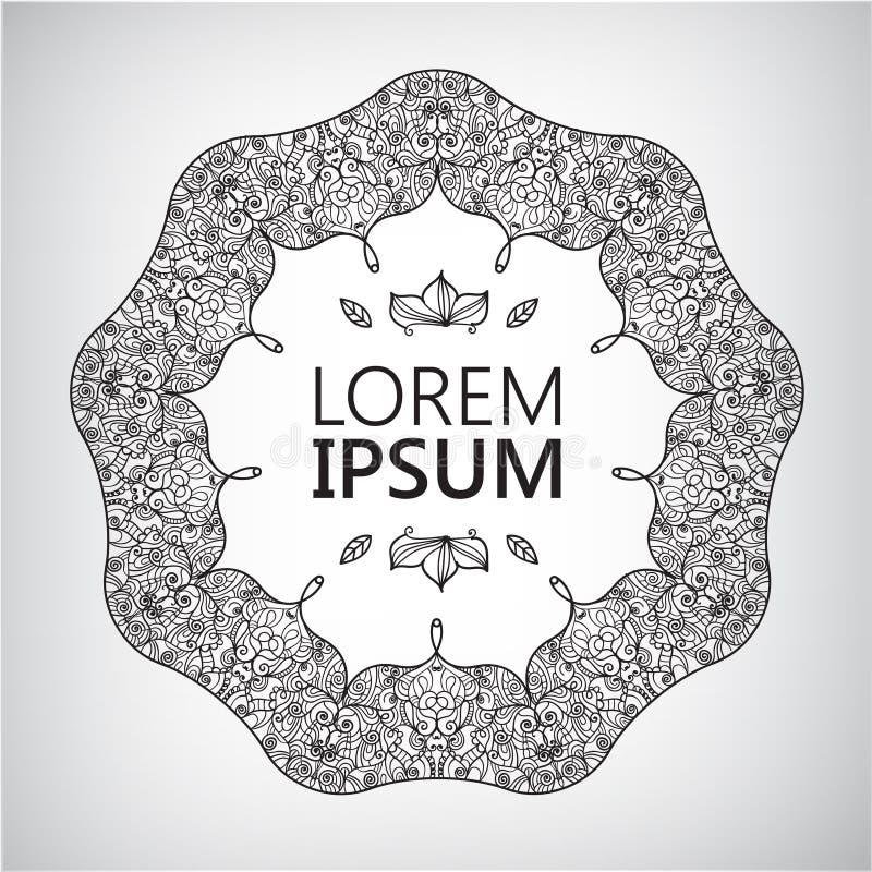 Περίληψη, λογότυπο περισυλλογής γιόγκας γραφικό σε Boho απεικόνιση αποθεμάτων