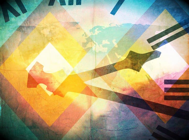 Περίληψη παγκόσμιων ρολογιών διανυσματική απεικόνιση