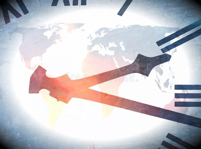 Περίληψη παγκόσμιων ρολογιών ελεύθερη απεικόνιση δικαιώματος