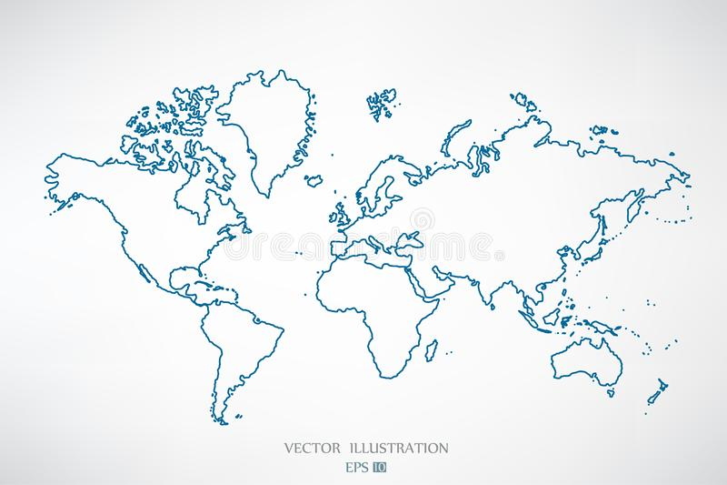 Περίληψη παγκόσμιων χαρτών ελεύθερη απεικόνιση δικαιώματος