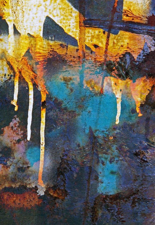 Περίληψη σκουριάς σταλαγματιάς χρωμάτων στοκ εικόνα με δικαίωμα ελεύθερης χρήσης