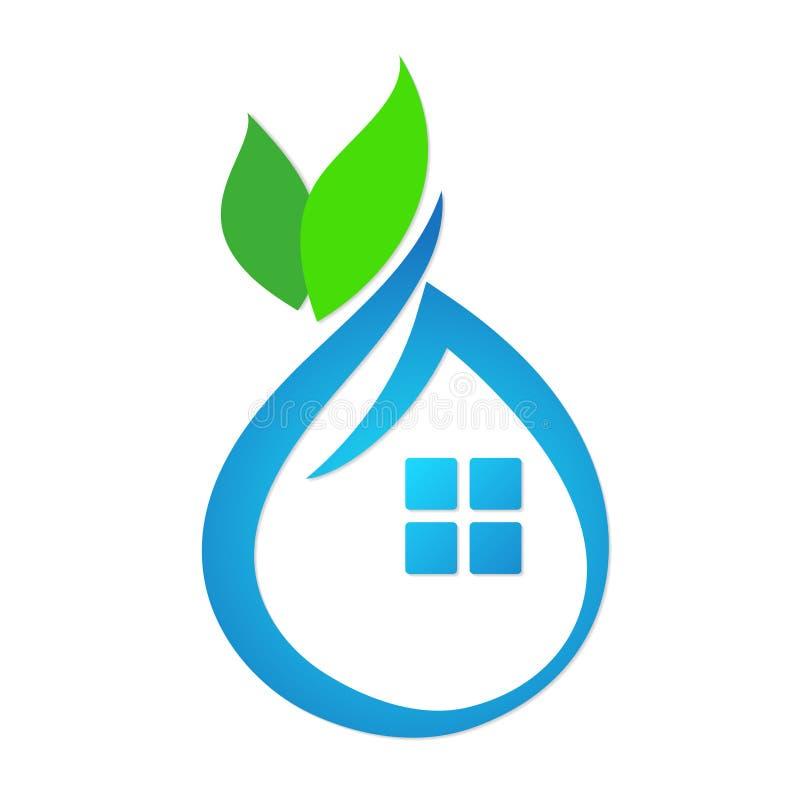 Περίληψη σπιτιών Eco απεικόνιση αποθεμάτων