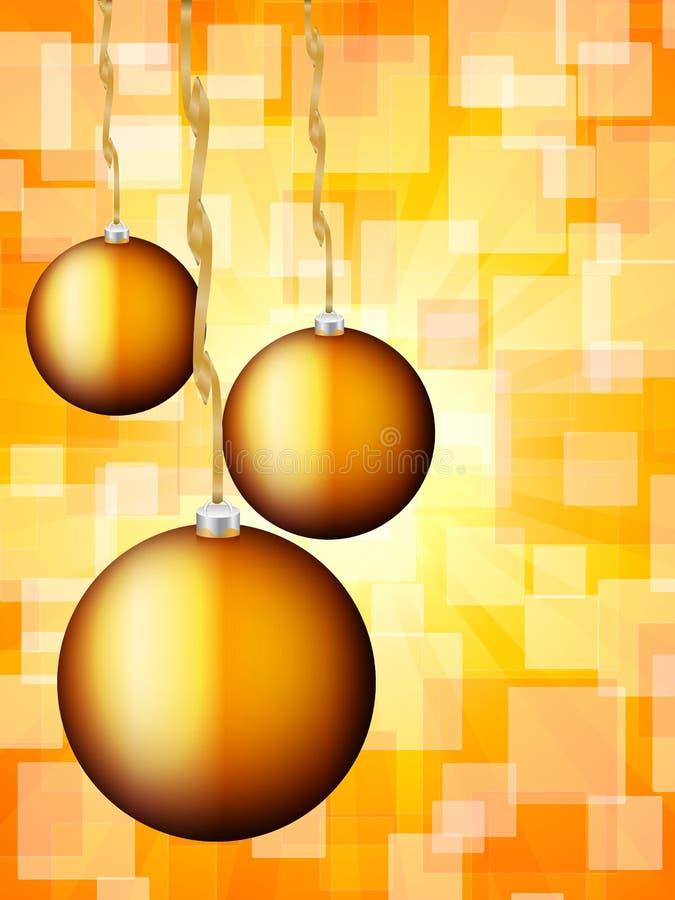 Περίληψη σφαιρών Χριστουγέννων bokeh διανυσματική απεικόνιση