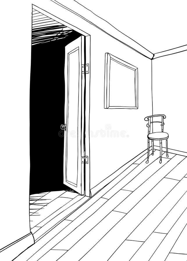 Περίληψη της έδρας στο δωμάτιο απεικόνιση αποθεμάτων