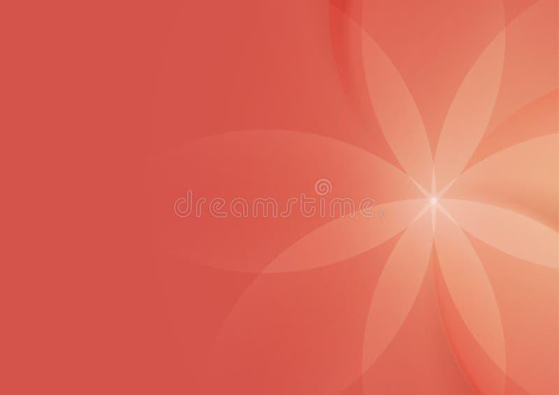 Περίληψη Floral στο σωμόν υπόβαθρο απεικόνιση αποθεμάτων