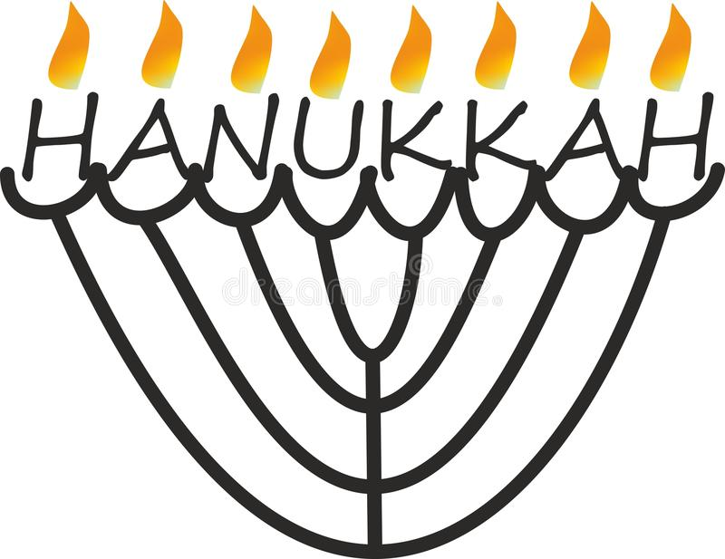 Περίληψη hanukkah με τη φλόγα απεικόνιση αποθεμάτων