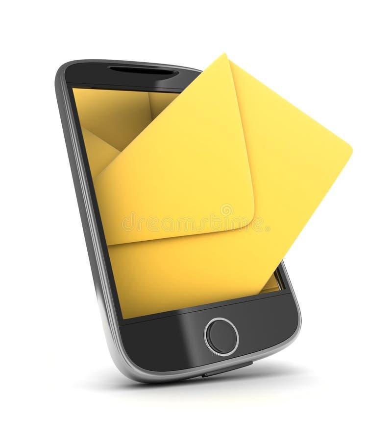 περίληψη sms διανυσματική απεικόνιση