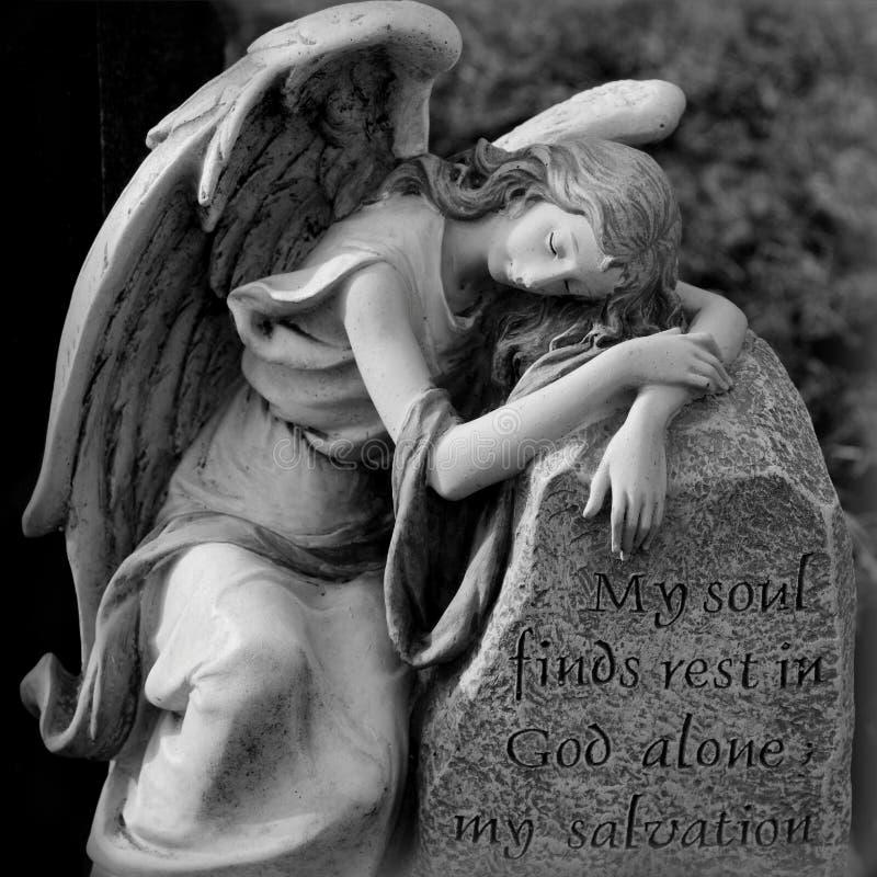 Περίλυπος άγγελος στοκ εικόνες