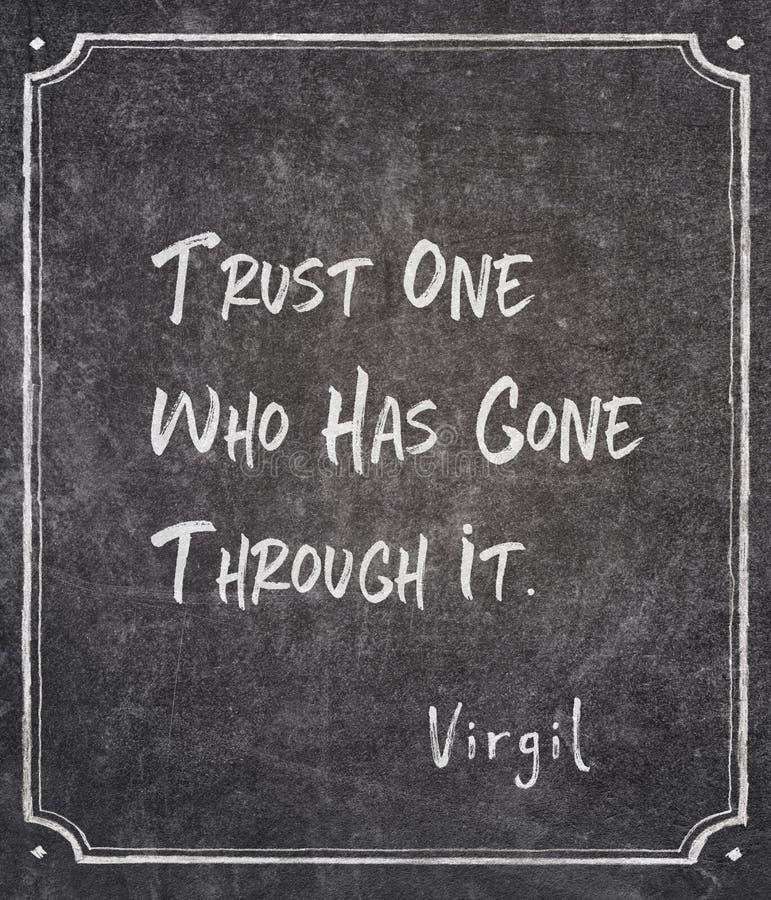 Περασμένος από το απόσπασμα Virgil στοκ φωτογραφία