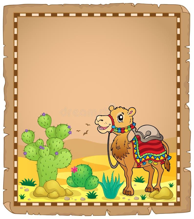 Περγαμηνή με την καμήλα 1 διανυσματική απεικόνιση