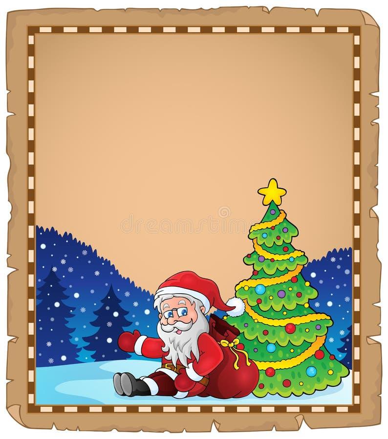 Περγαμηνή με το thematics 3 Χριστουγέννων ελεύθερη απεικόνιση δικαιώματος