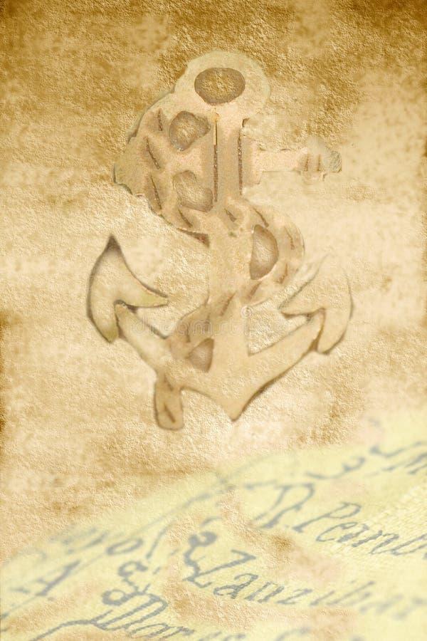 περγαμηνή χαρτών αγκυλών στοκ φωτογραφία με δικαίωμα ελεύθερης χρήσης