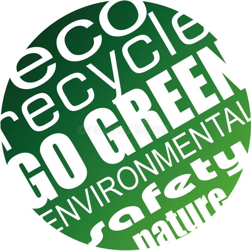 Περιβάλλον και ανασκόπηση Eco για τα πράσινα ιπτάμενα διανυσματική απεικόνιση