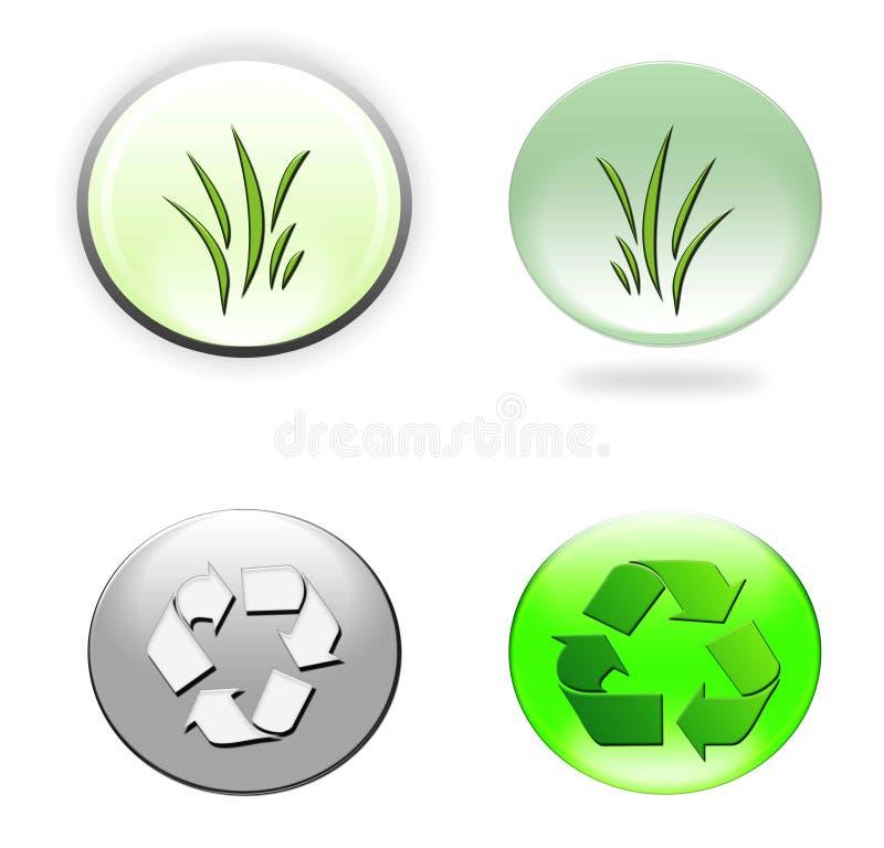 Περιβαλλοντικά εικονίδια στοκ εικόνες