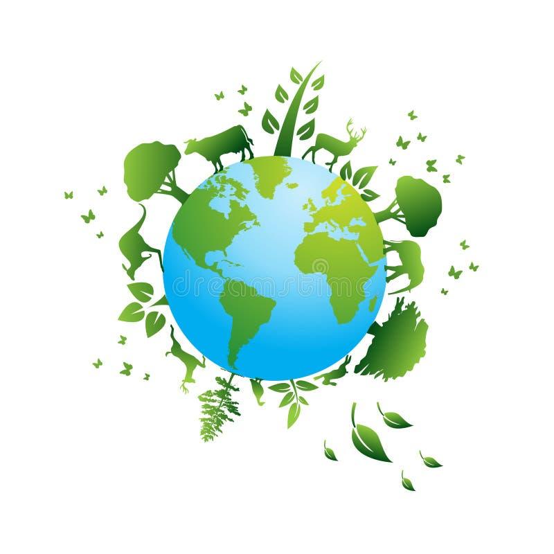 περιβαλλοντικά εικονίδια διανυσματική απεικόνιση