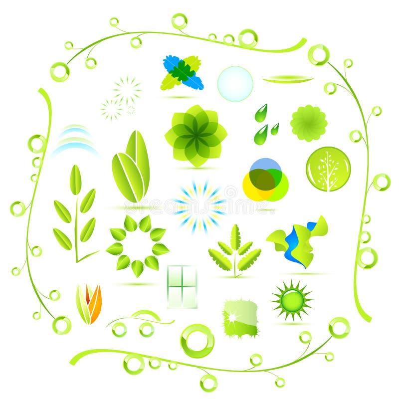 περιβαλλοντικά εικονίδια απεικόνιση αποθεμάτων