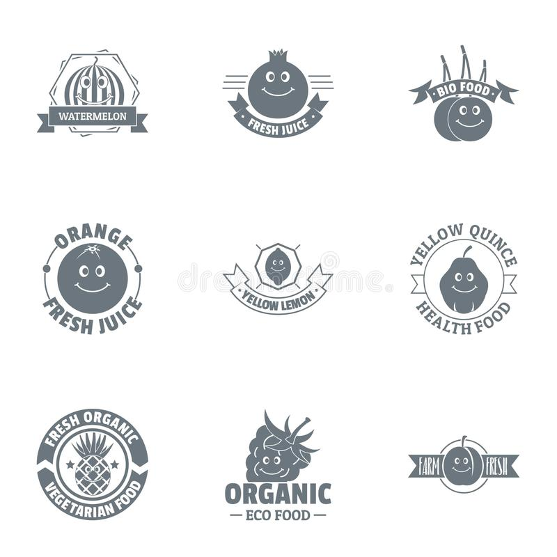 Περιβαλλοντικά φιλικό σύνολο λογότυπων, απλό ύφος διανυσματική απεικόνιση