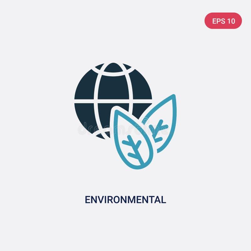 Περιβαλλοντικό διανυσματικό εικονίδιο δύο χρώματος από την έξυπνη εγχώρια έννοια το απομονωμένο μπλε περιβαλλοντικό διανυσματικό  διανυσματική απεικόνιση