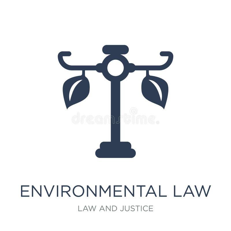 περιβαλλοντικό εικονίδιο νόμου Καθιερώνον τη μόδα επίπεδο διανυσματικό περιβαλλοντικό ico νόμου απεικόνιση αποθεμάτων