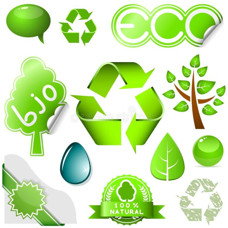 περιβαλλοντικό σύνολο διανυσματική απεικόνιση
