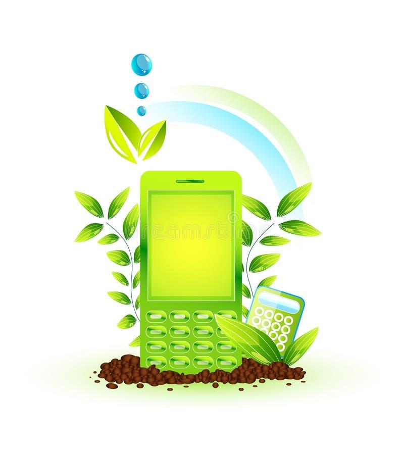 περιβαλλοντικό τηλέφωνο διανυσματική απεικόνιση