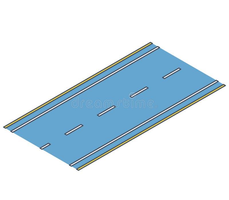 Περιγραμμένος δρόμος, κυκλοφορία οδών, πληροφορίες γραφικές, σύνδεση crossway για το άσπρο υπόβαθρο διανυσματική απεικόνιση