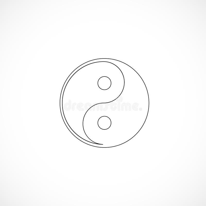 Περιγραμμένος yin και yang απεικόνιση αποθεμάτων